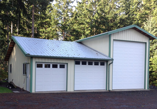 A garage with RV storage in Poulsbo